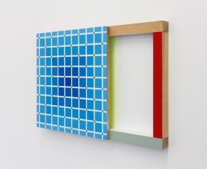 (Un)steady Object III / (Ó)stöðugur hlutur III, 2014, Acrylic on wood, 35 x 54 cm