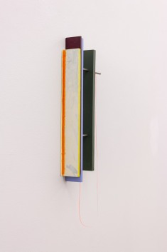 Untitled, 2017 Acryllic on wood and nylon 50 x 20 x 8 cm