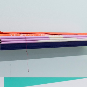Painted Angles (folded canvas), detail